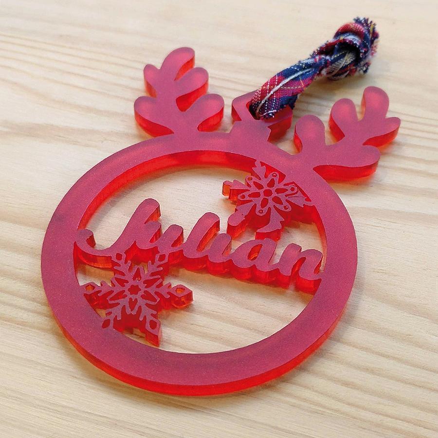 Bola de navidad personalizada modelo reno