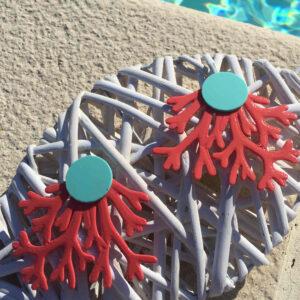 Pendientes ramas de corales