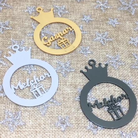 Adorno de navidad bola Reyes Magos